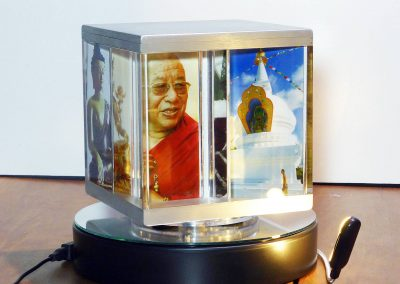 PixCube photo cube stacked with spiritual buddhist images