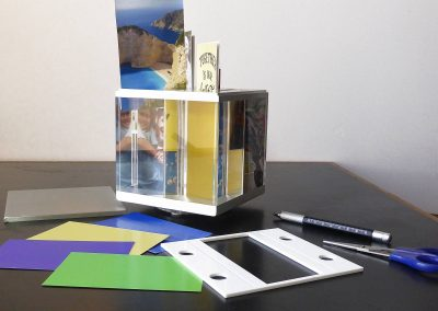 create your own photo cube: our DIY set for your family fun session